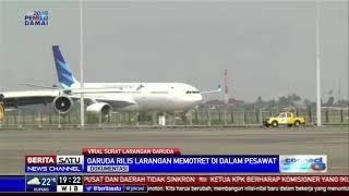 Viral Surat Larangan Garuda Ambil Foto dan Video di Pesawat