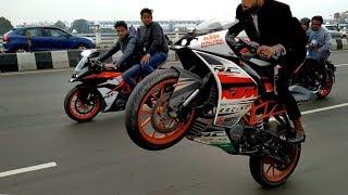 Stunning Stunts on KTM DUKE 200 KTM RC200 & Pulser 220||||best bike stunts||||