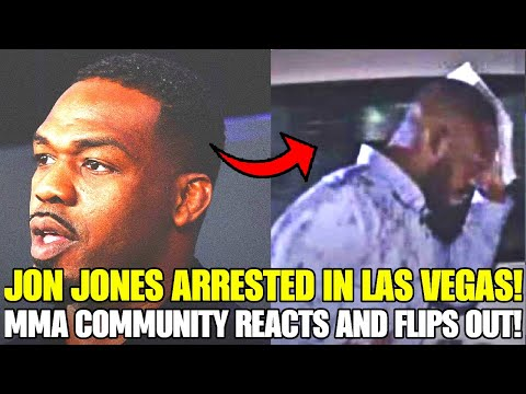 Jon Jones ARRESTED in Las Vegas right after becoming UFC Hall of Famer, MMA Community reacts