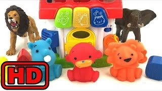 Kid -Kids -Learn Colors And ZOO Animals With Bath Toys And Schleich Toy Animals/Learn ABC And Shape