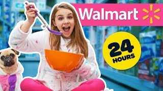 24 HOUR OVERNIGHT CHALLENGE IN WALMART! **SECRET FORT**🔆💕| Piper Rockelle