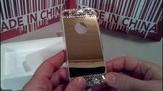 Зеркальный чехол со стразами на  iPhone 7