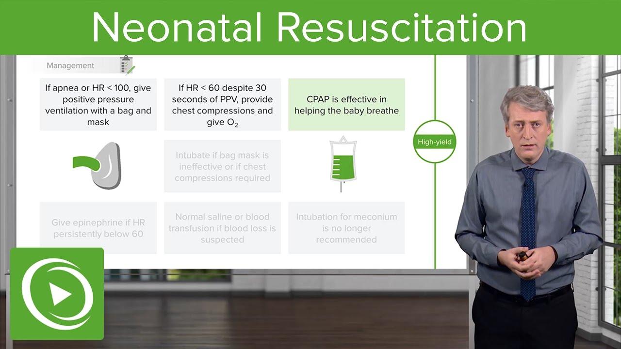 Neonatal Resuscitation: Overview & Apgar Score – Pediatrics | Lecturio