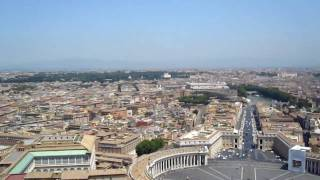Rome from the Cupola of St. Peter's Basillica Thumbnail