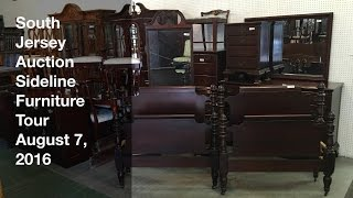 August 7, 2016 Sideline Furniture Tour - South Jersey Auction