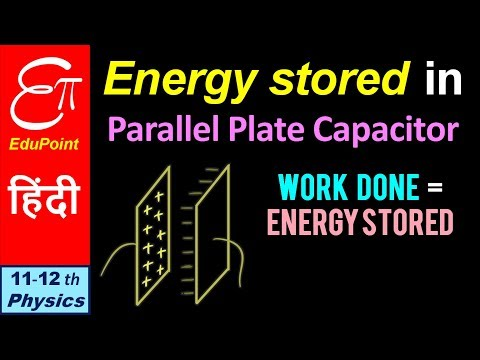 ENERGY STORED in Parallel Plate Capacitor || in HINDI