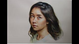 watercolor portrait tutorial - Kim So Hyun