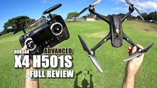 HUBSAN X4 H501S ADVANCED - Full Review - [Unbox, Inspection, Setup, Flight Test, Pros & Cons]