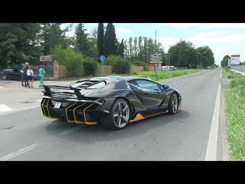 The $2.5 Million Lamborghini Centenario Driving on the Road!
