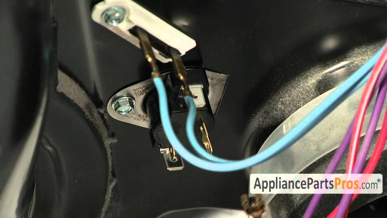 Dryer Cycling Thermostat Part Wp3387134 How To Replace Youtube Wp Duet Wiring Diagram