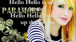 Hello Hello- paramore- lyrics