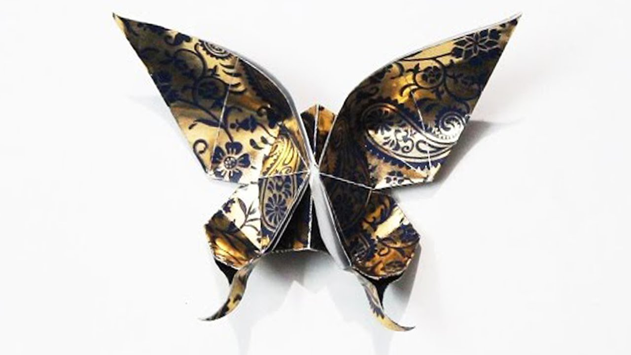 Swallowtail Butterfly Origami - YouTube | 720x1280
