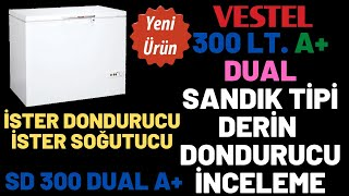 VESTEL 300 LT. DUAL A+ DERİN DONDURUCU İNCELEME - YENİ ÜRÜN - SD 300 DUAL A+