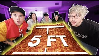 EATING WORLD'S LARGEST PIZZA (MUKBANG W/ EX-ROOMMATES)