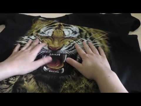 2 качественные футболки с принтами: дракон и тигр. Распаковка