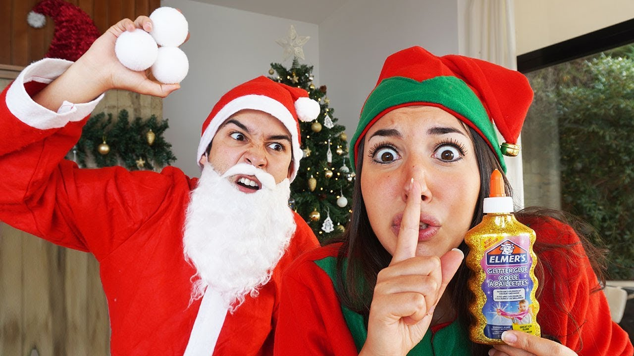 Babbo Natale Cattivo.Trova Gli Ingredienti Dello Slime Nascosti Da Babbo Natale Cattivo Youtube