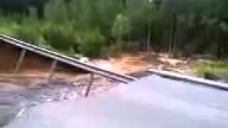 Обрушение дороги Тюмень - Ханты-Мансийск 447-й километр