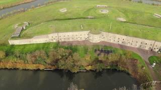 Fort bij Spijkerboor met de drone