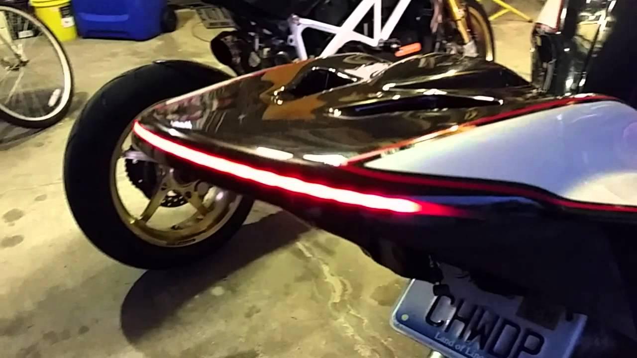 custom ducati monster 1100 evo tail light - youtube