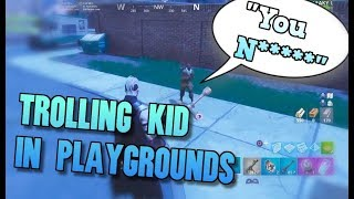 THE MOST RACIST KID IN PLAYGROUNDS! Fortnite Invisible Trolling Funny Moments