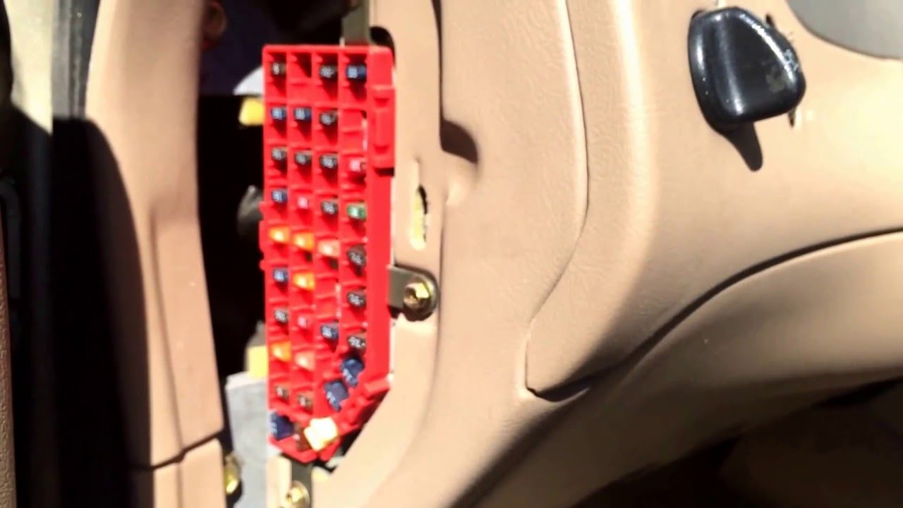Ford Explorer 1995-2001 Fuse Box Location