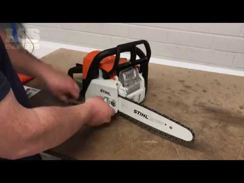 How to Change the Chain and Bar on a Stihl MS170 Chainsaw | L&S Engineers