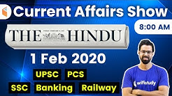8:00 AM - Daily Current Affairs 2020 by Bhunesh Sir | 1 February 2020 | wifistudy