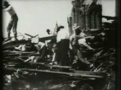 Search for bodies after the 1900 Galveston Hurricane