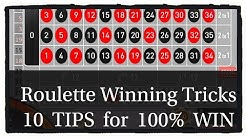 10 TIPS for 100% WIN On Online Roulette games