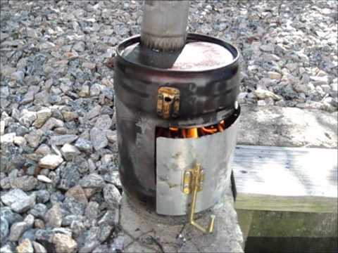 - DIY TENT WOOD STOVE PROTO #1 - YouTube