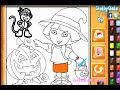 Dora Painting Games Dora Halloween Coloring Pages
