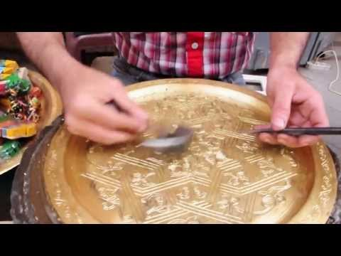 Copper plate Carving