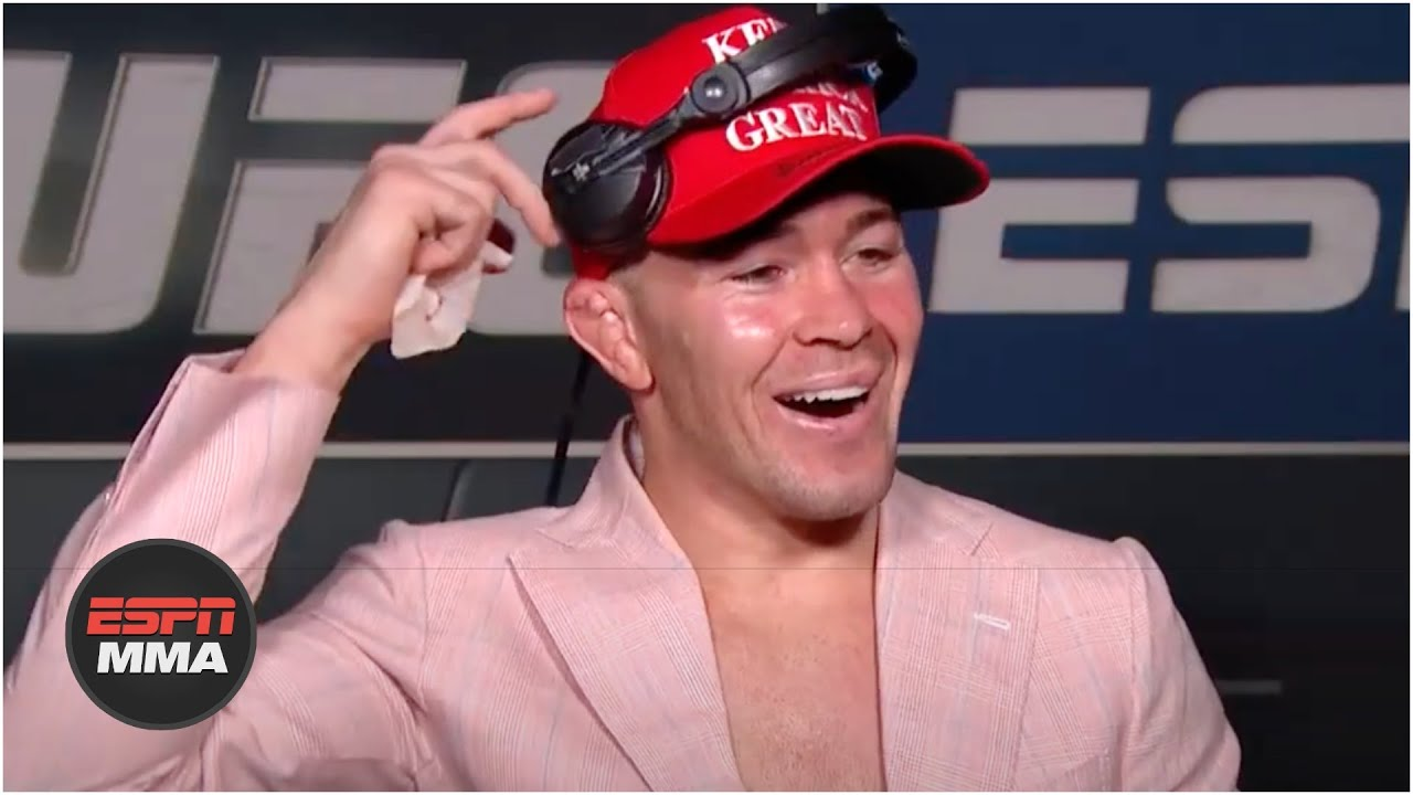 Colby Covington gets a call from President Trump after his victory vs. Tyron Woodley   ESPN MMA MyTu