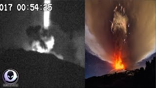 STRANGE UFO Activity Over Mt. Etna Volcano 3/19/17 Top 10 Video