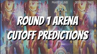 Iron Man Infinity War and Aegon Arena Cutoff Round 1 Predictions - Marvel Contest of Champions