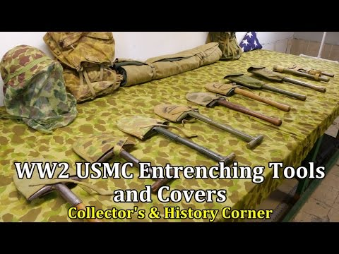 World War 2: USMC Entrenching Tools and Covers | Collector's & History Corner