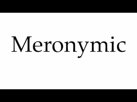 How to Pronounce Meronymic