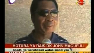 Waandishi Wa Habari Nchini Watiririka Juu Ya Hotuba Ya Rais Magufuli