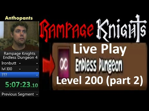 Rampage Knights Endless Dungeon Live Playthrough to level 200 (part 2)