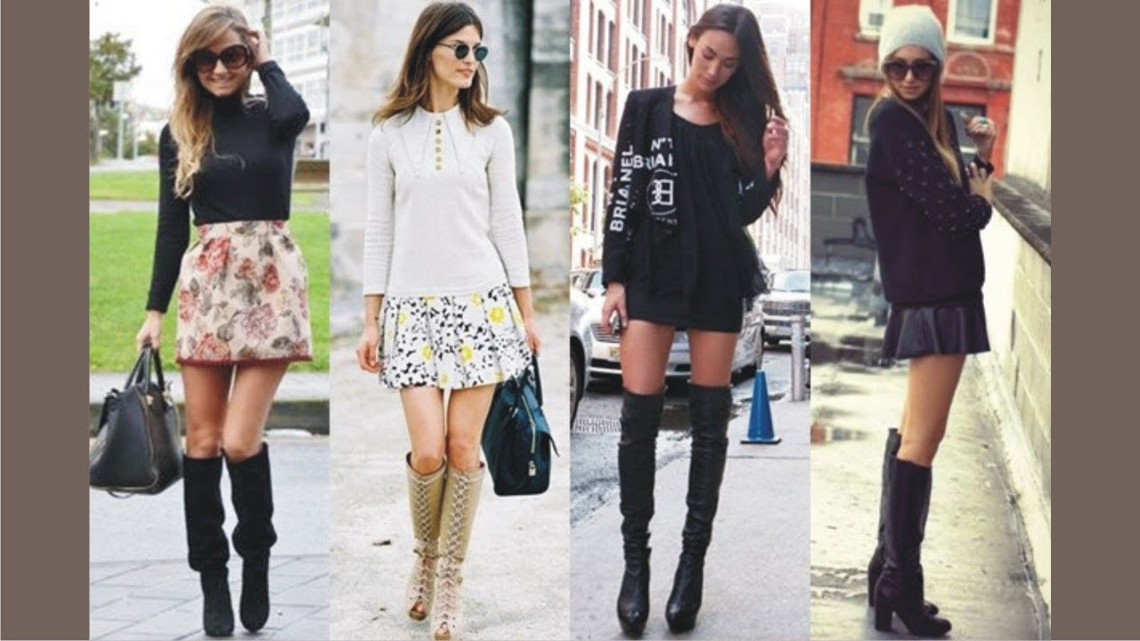 What do you wear with knee high boots?