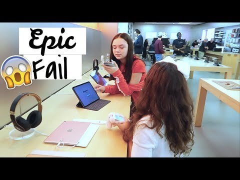 New iPhone Shopping at the Apple Store Vlog | Epic FAIL