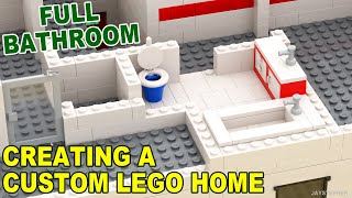 Tutorial - Creating A Custom Lego Home - Full Bathroom [cc]