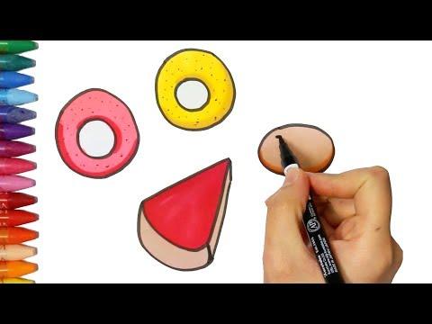 Bagaimana Menggambar Dan Mewarnai Donat Cara Menggambar Dan