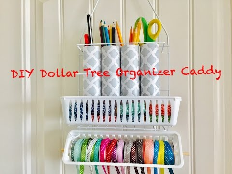 DIY Dollar Tree Craft Organizer Caddy - Easy Less than $3