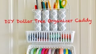 DIY Dollar Tree Craft Organizer Caddy - Easy Less than $3