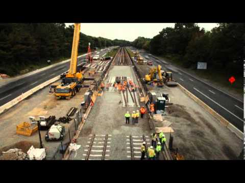 WMATA K- Line Double Crossover Installation 3/12/2012 Time Lapse