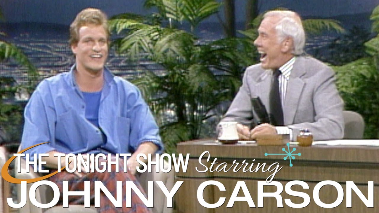 Woody Harrelson Makes His First Appearance on Carson Tonight Show - 03/14/1986
