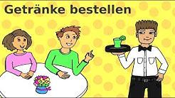 Deutsche Dialoge: Im Café, Restaurant und in der Eisdiele - Learn German: Ordering drinks