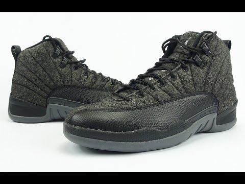 brand new 0469d 23c32 Air Jordan 12 Wool Review + On Feet - YouTube