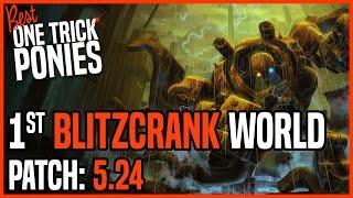 Best Blitzcrank Support OTP - Ranked Challenger KR Patch 5.24 - 12/25/15